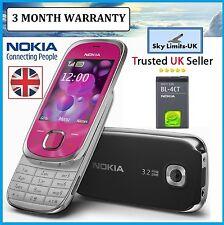 Nueva condición Rosa Nokia Slide 7230 incluso 3G desbloqueado teléfono móvil tres