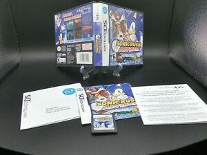 Sonic Rush Adventure (Nintendo DS, 2007) CIB with Manual Very Good Condition