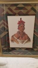 Art, portrait, print of Chon-Ca-Pe, Indian Chief, by Charles Bird King