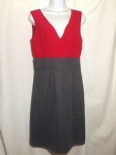 Merona Dress Red Houndstooth Skirt Sleeveless Surplice With Lining Size 8