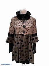 An Ren New York Art to Wear Wool Coat L Brown Taupe  Geometric Coat Jacket Tunic