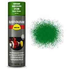 x2 Rust-Oleum Grass Green Industrial Spray Paint Hard Hat Brand 500ml RAL 6010