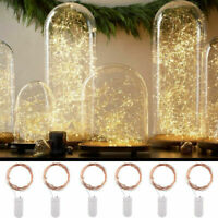 100 LED Battery Micro Rice Wire Copper Fairy String Lights Party white/rgb AR