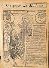 Madame Mode de Paris Parapluie Caoutchouc Robes de Taffetas Garde Robe WWI 1916