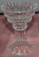 Candle Holder Heavy Cut Glass Large Candle Holder