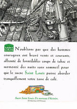 PUBLICITE ADVERTISING 025  1996  SAINT LOUIS   sucre pure canne