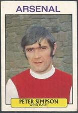 Footballers # 115 Peter Simpson Arsenal Red Back A/&BC 1974