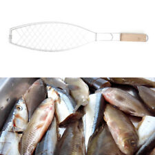 BBQ Fish Grilling Basket Clip Folder Tool Roast Food Meat Hinged Grill Rack