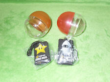 New Super Mario Bros Gacha Gashapon Star and Blooper Screen Cleaning Pads Strap