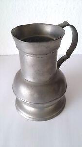 Zinnkrug, antik 16 cm hoch mit Stempeln