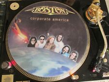 "Boston - Corporate America Mega Rare 12"" Picture Disc Single LP NM"