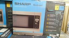 Sharp - 1.8 Cu. Ft. Full-Size Microwave - Stainless steel Model: R-551ZM