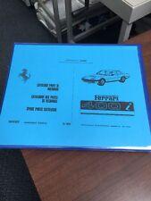 Ferrari 400i Parts Manual Catalogue Instruction Maintenance Handbook