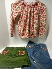 Gymboree Cozy Owl Size 9 lot Shirt Jeans Skirt Pink Green
