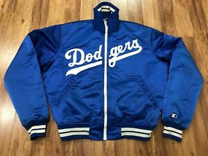 MENS XL - Vtg 80s 90s Los Angeles Dodgers Starter Quilted Sewn Zip Jacket USA