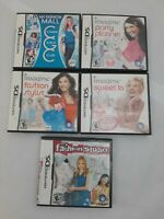 Lot Of 5 Girls Nintendo DS Games , Party Planner, Sweet 16, Stylist, Fahion Mall