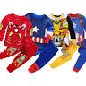 Unisex Kids Boys Superheroes Nightwear Long Sleeve Tops + Pants Pyjamas Set 1-8Y