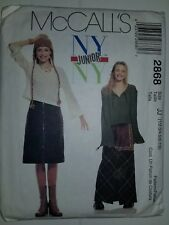 Pullover Top Skirt Apron Sewing Pattern 1/2 - 7/8 Juniors NY McCalls 2868 UC FF