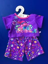 Build a Bear Teddy Bear Clothing - Trolls Hug Time PJ Pajama Set NEW - 2 pc.