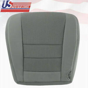 2006 Ford F-250 F-350 F-450 XLT Driver Side Bottom Cloth Seat Cover 2tone Gray