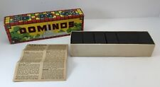 VTG Halsam Products Co Double Six Dominos US Capitol In Box With Instructions