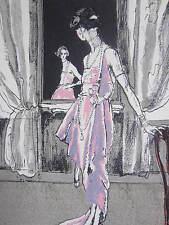 Gazette du Bon Ton Pochoir Art Deco Que vas tu faire by Drian - 1920
