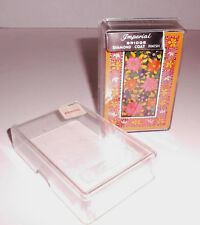 Vintage WHITMAN PLAYING CARDS Flower Design in Plastic Case w Woolworths Tag