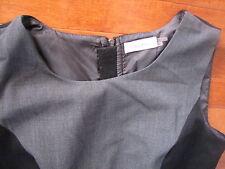 CAVIN KLEIN  SENSUAL  BLACK & GRAY BLOCKED STRETCH DRESS  ~ MEDIUM (10)