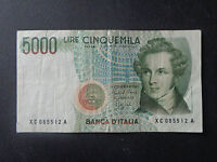 BANCONOTA LIRE 5000 BELLINI 1992 RARA SERIE SOSTITUTIVA XC NUMISMATICA SUBALPINA