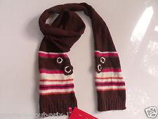 Cache nez écharpe ESPRIT pour fille enfant 50% coton marron NEUF scarf girl TU