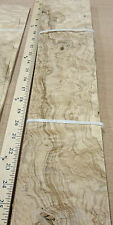 "Olive Ash Burl wood veneer 5"" x 21"" raw no backing 1/42"" thickness sheet tile"