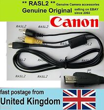 Genuino Original Canon Av Cable Ixus 500 1000 1100 Hs Powershot A4000 es A810