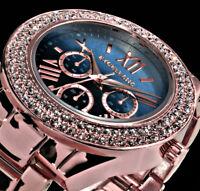Excellanc Damen Armband Uhr Dunkelblau > Hell Blau Rose Gold Farben Metall BI