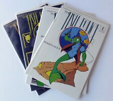 Lot of 4 The Fish Police Comics Fishwrap Productions 1 2 3 4 1986-87