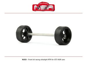 NSR 9153 Front Axle Kit Ultralight RTR for GT3 NSR Cars