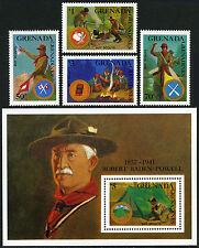Grenada Grenadines 949-952,953 S/S, MNH. Boy Scouts, 1988