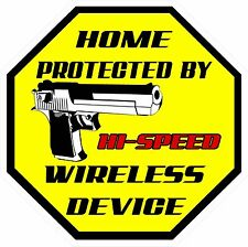 2 Hi Speed wireless Home Security decals sticker 3.5 by 3.5 inches