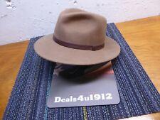 Pendleton 100% Virgin Wool Hat Brown Fedora A199-722 Leather Band Men's Large Vg