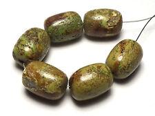 6 pcs.GASPEITE 14mm Barrel Beads NATURAL Australia /B3