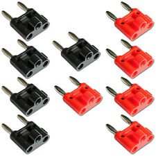 Twin Banana Plugs Dual Double Black Red 4mm Speaker Connectors x 5 Pairs