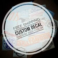CUSTOM Vinyl Decal - Any Logo Sticker - Car Truck Motorcycle SUV - Wall Window