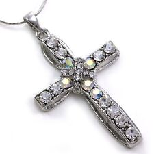Clear Cross Charm Crystal Rhinestone Necklace Pendant 5