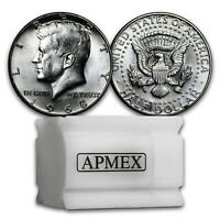1964-D Kennedy Half Dollar 20-Coin Roll BU SOLID DATE BANK WRAPPED 90/% Silver!