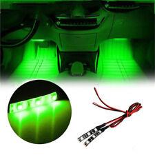 2x Green 3 SMD LED Light strip 12V waterproof Car Motorcycle Gauge cup holder