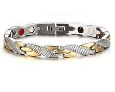 Titanium steel Magnetic Therapy health Jewelry  Women Men's Bracelet 7mm 7.87''