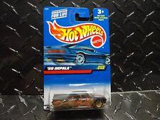2000 Hot Wheels #249 Black '59 Impala Lowrider w/Gold Lace Wheels