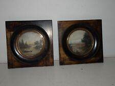 Paire de miniatures anciennes.XIX°.Peinture