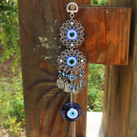 NE_ Turkish Blue Evil Eye Wall Hanging Amulet Protection Lucky Ornament Decor CA