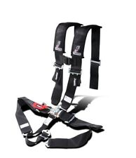 "Dragonfire Seat Belt Harness 5 Point 3"" Padded Black Yamaha Can Am Polaris"