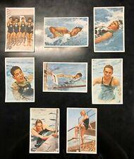 1936 Berlin Olympics 8 Franck cards MEN'S SWIMMING, Adolph Kiefer & Jack Medica+